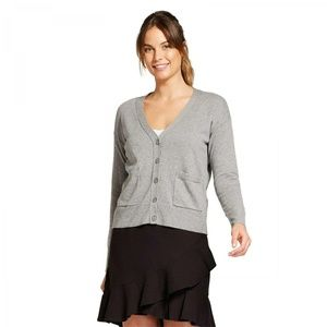 NWT A New Day Any Day Cardigan Sweater Large Gray